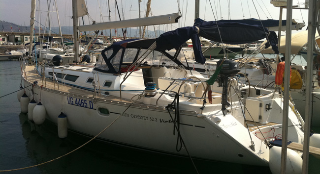 The Sun Odissey 52 boat for sale